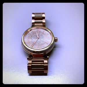 Rose gold and gems Michael Kors watch